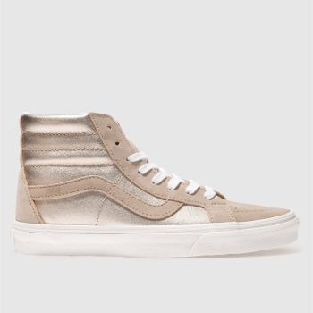 039061af35 womens rose gold vans sk8-hi re-issue trainers