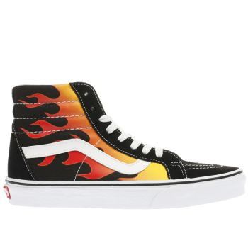 VANS BLACK & RED SK8-HI RE-ISSUE TRAINERS