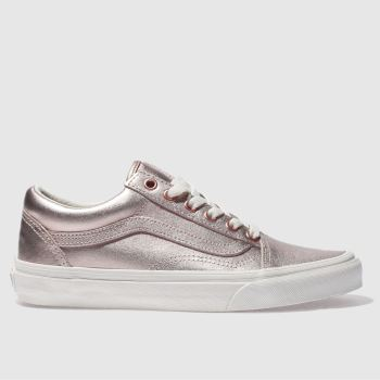 842e805f59f womens rose gold vans old skool trainers