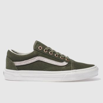 VANS KHAKI OLD SKOOL TRAINERS