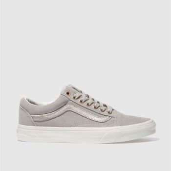 3c6a9b17f7 womens light grey vans old skool trainers