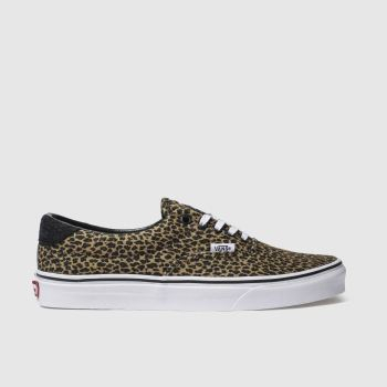Vans Beige Era 59 Mini Leopard Womens Trainers
