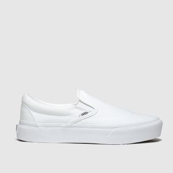 Vans White Classic Slip-On Platform Womens Trainers