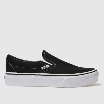 Vans Black Classic Slip-On Platform Womens Trainers e5d686300
