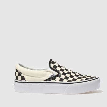 Vans Black   White Classic Slip-On Platform Womens Trainers 82dc1e859