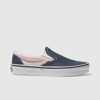 VANS BLUE CLASSIC SLIP-ON TRAINERS
