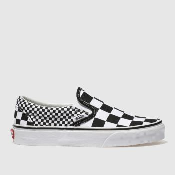 700d83b6ab Vans Black   White Classic Slip-On Mix Checker Womens Trainers