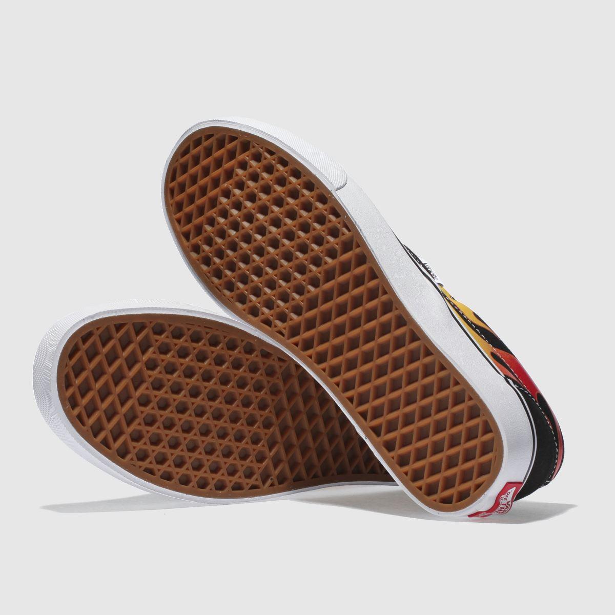 Damen Schwarz-rot vans Classic schuh Slip-on Flame Sneaker | schuh Classic Gute Qualität beliebte Schuhe 14bd6a
