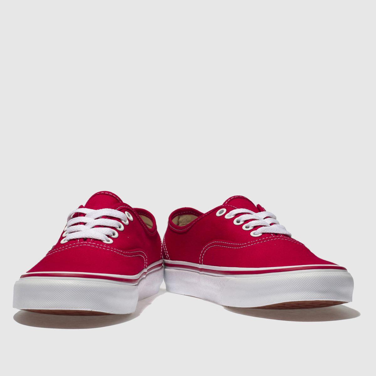 Damen Rot vans Authentic Canvas Sneaker | schuh Gute Qualität beliebte Schuhe