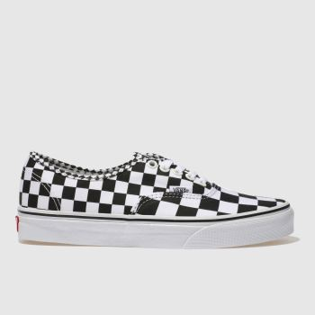 VANS BLACK & WHITE AUTHENTIC MIX CHECKER TRAINERS