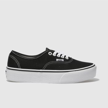 Vans Black & White Authentic Platform 2.0 Womens Trainers