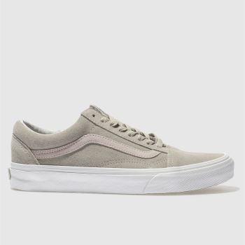 Vans Grey Old Skool Suede Womens Trainers