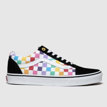 Vans Multi Old Skool Rainbow Checker Womens Trainers