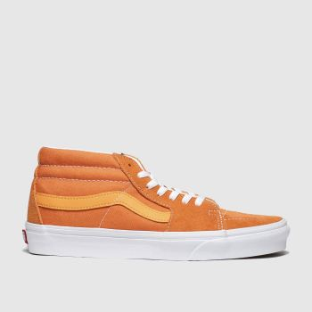 Vans Orange Sk8-mid Womens Trainers