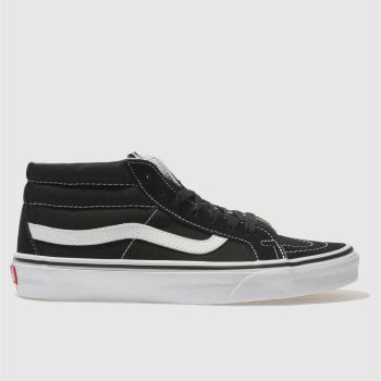 Vans Black & White Sk8-Mid Womens Trainers