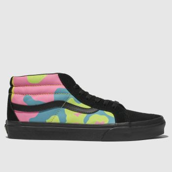 Vans Black & Blue Sk8-Mid Womens Trainers