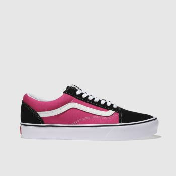 Vans Black & pink Old Skool Lite Womens Trainers
