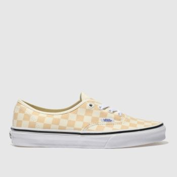 Vans Cream & Peach Authentic Checkerboard Womens Trainers