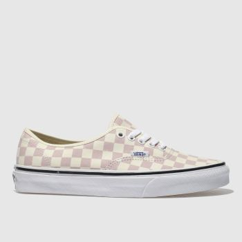 Vans Pink & Cream Authentic Checkerboard Womens Trainers