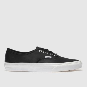 Vans Black & White Authentic Satin Lux Womens Trainers