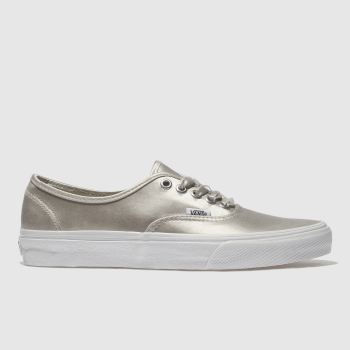 Vans Silver Authentic Satin Lux Womens Trainers