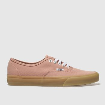 Vans Orange Authentic Gum Sole Womens Trainers