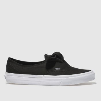 Vans Black Authentic Knotted Canvas Womens Trainers