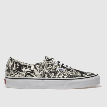 Vans Black & White Authentic Marvel Women Womens Trainers