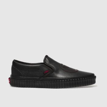 Vans Black Slip-On Marvel Black Widow Womens Trainers 3d2fea9df