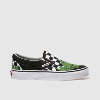 Vans Black Classic Slip-On Marvel Hulk Womens Trainers