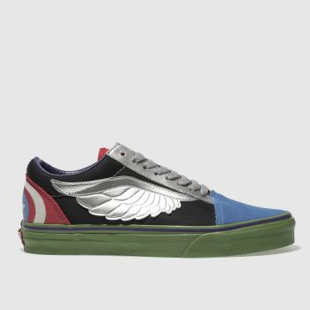 VANS BLACK & SILVER OLD SKOOL MARVEL AVENGERS TRAINERS