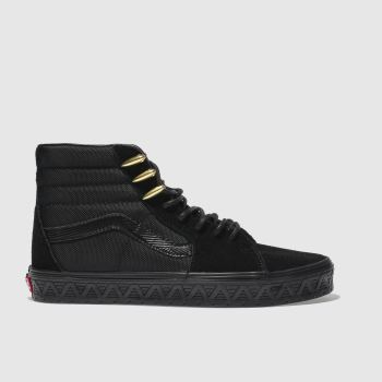Vans Black Sk8-Hi Marvel Black Panther Womens Trainers