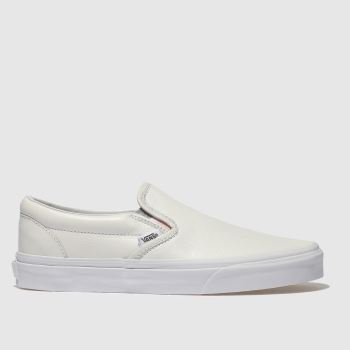 Vans White Classic Slip-On Womens Trainers
