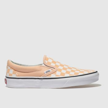 Vans Orange Classic Slip-On Womens Trainers