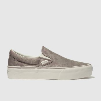 Vans Lilac Classic Slip-On Satin Paisley Womens Trainers