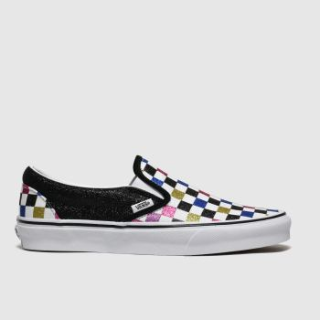Vans Black & White Classic Slip-on Glitter Womens Trainers