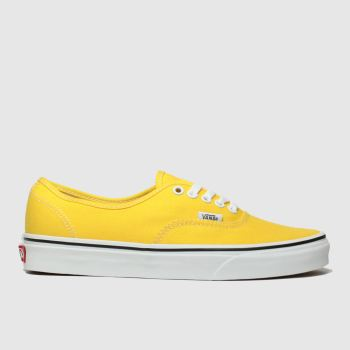 Vans Yellow Authentic Womens Trainers