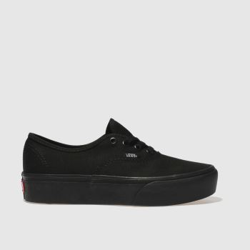 Vans Black Authentic Platform 2.0 Womens Trainers