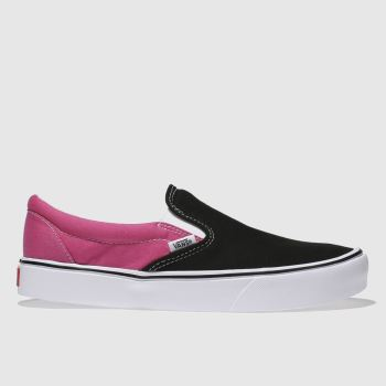 VANS BLACK & PINK SLIP-ON LITE 2 TONE TRAINERS