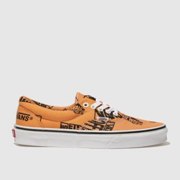 Vans Orange Era Logo Mix Womens Trainers