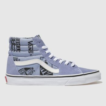 Vans Lilac Sk8-Hi Logo Mix Womens Trainers