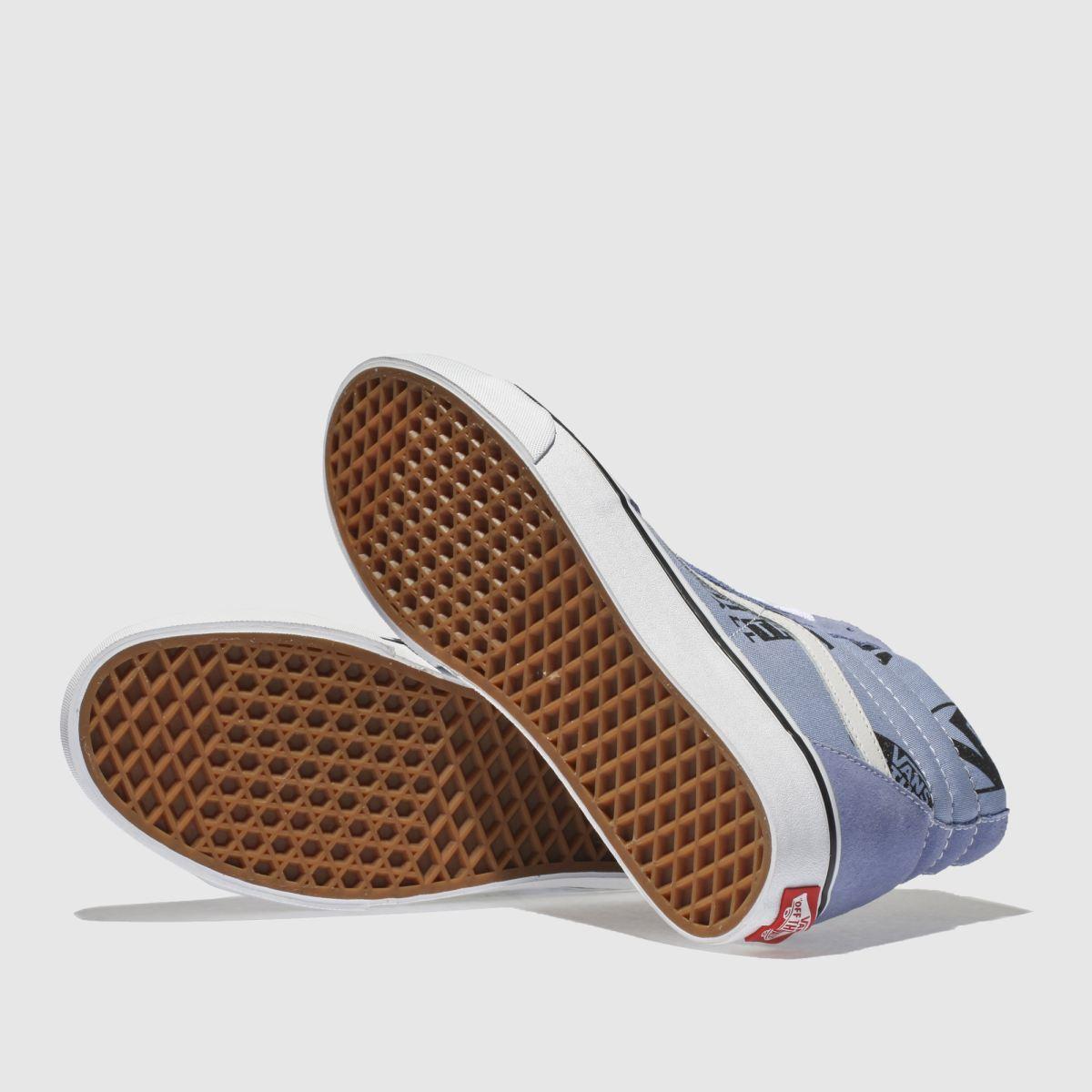 Damen Blaulila vans Sk8-hi Logo Gute Mix Sneaker | schuh Gute Logo Qualität beliebte Schuhe 91812e