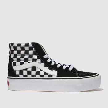 Vans Black & White Sk8-hi Platform 2.0 c2namevalue::Womens Trainers