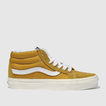 VANS YELLOW SK8-MID RISE RETRO SPORT TRAINERS