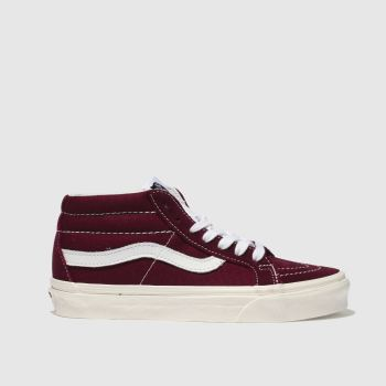 Vans Burgundy Sk8-Mid Rise Retro Sport Womens Trainers