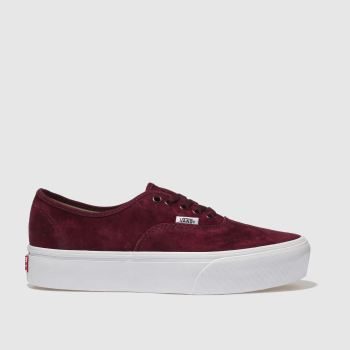 Vans Burgundy Authentic Platform 2.0 Womens Trainers