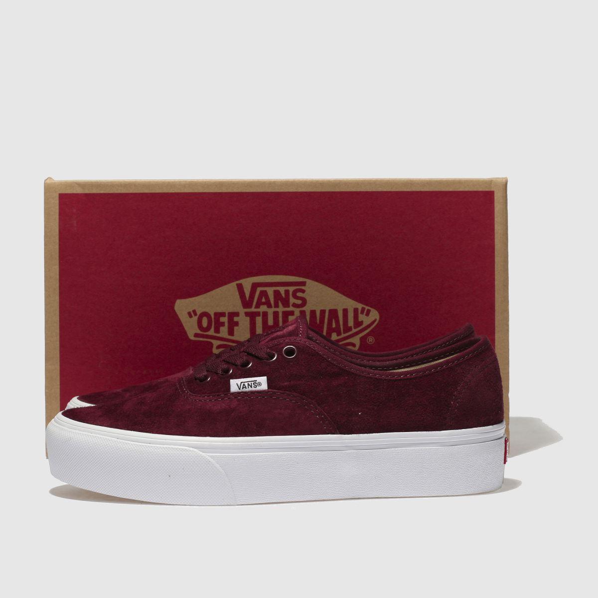 Damen Weinrot Sneaker vans Authentic Platform 2.0 Sneaker Weinrot | schuh Gute Qualität beliebte Schuhe 4a6c97