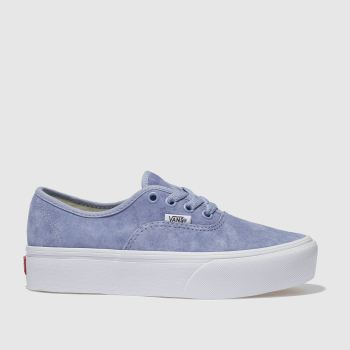 VANS PALE BLUE AUTHENTIC PLATFORM 2.0 TRAINERS