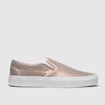 vans bronze classic slip-on trainers