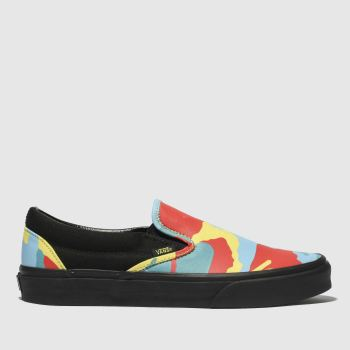 Vans Red & Yellow Classic Slip-On Womens Trainers